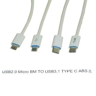 Usb2.0 Micro BM TO Usb3.1 Type C ABS